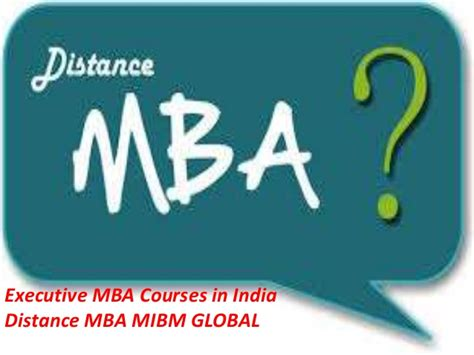 Mba Electives In India by Executive Mba Courses In India Distance Mba Working On