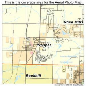 map of prosper aerial photography map of prosper tx