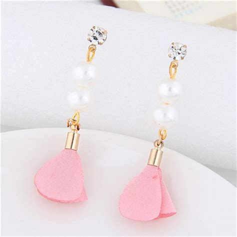Pearl Flower Fashion korean fashion flower and pearl combo design graceful