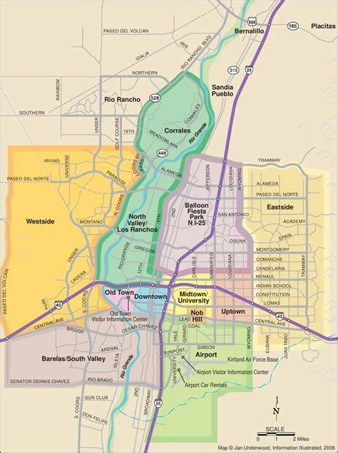 albuquerque map usa albuquerque neighborhoods map