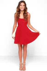 Pretty red skater dress red homecoming dress 42 00