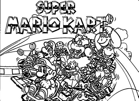 pin mario kart wii coloring pages on pinterest