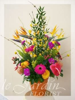 flower shop palm gardens celebration flower arrangement le jardin florist