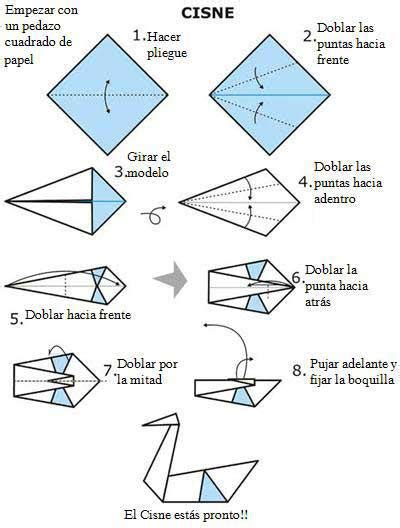 How To Make An Origami Swan Step By Step - an 237 mate con este cisne origami papiroflexia