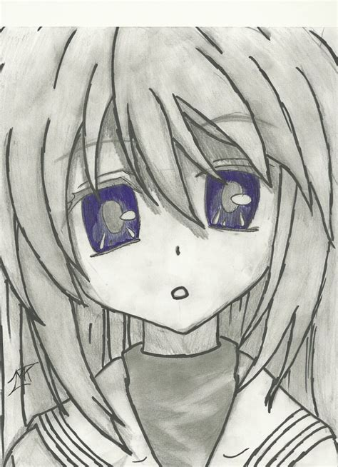 A Anime Drawing by Cool Anime Drawings In Pencil Pencil Drawing