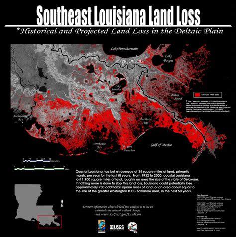 louisiana coastal erosion map maps