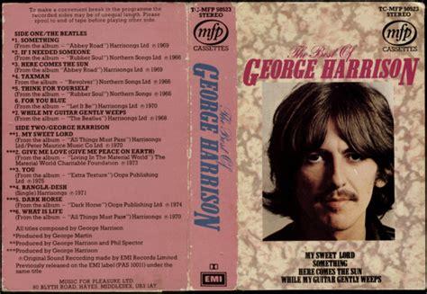 the best of george harrison george harrison the best of george harrison cassette