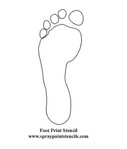 footprint pattern template foot print stencil