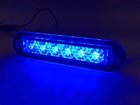 marine boat blue led light 14lm flush mount 12v 1 2w