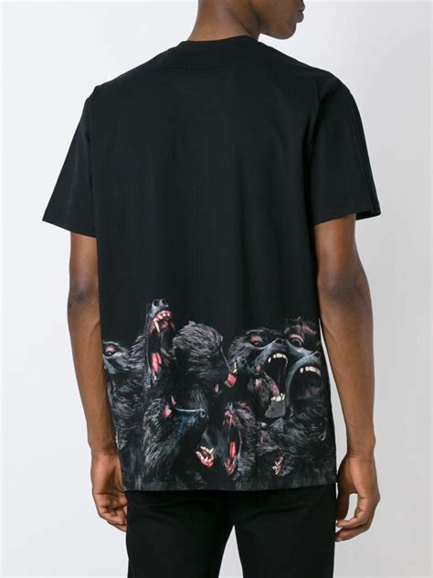 lyst givenchy baboon print  shirt  black  men