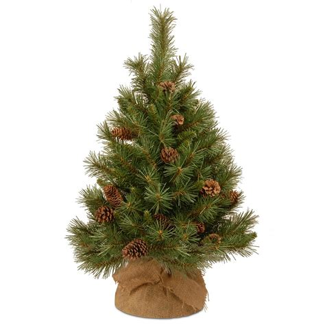 3ft pine cone burlap artificial christmas tree hayes