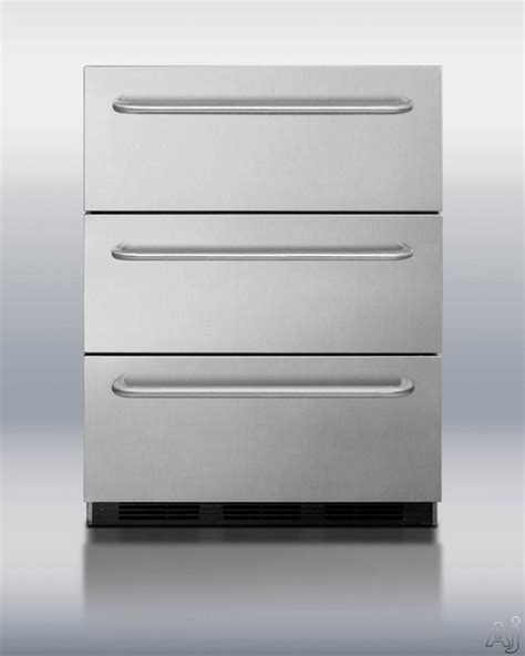 Summit Refrigerator Drawers summit sp6dsstb7ada 24 inch drawer refrigerator with assisted roller drawers