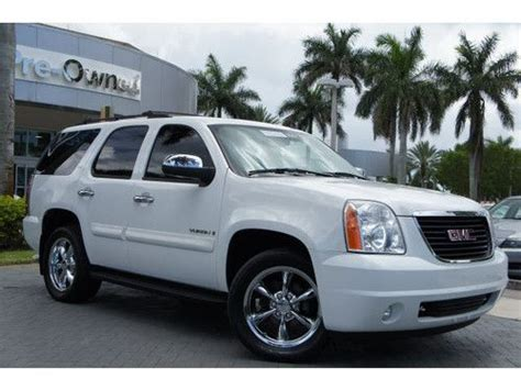 how to sell used cars 2007 gmc yukon xl 2500 engine control sell used 2007 gmc yukon slt rear wheel drive 1 owner clean carfax florida car in pompano