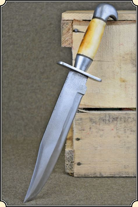Handmade Bowie Knives - z sold bone handled handmade bowie knife