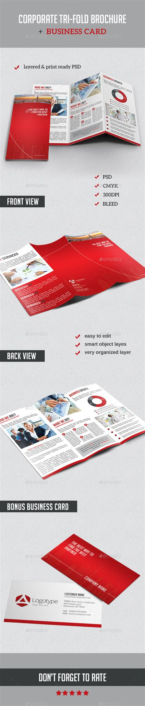 brochure templates to match vistaprint business cards corporate tri fold brochure business card corporate