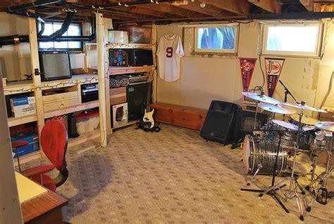 semi finished basement flickr photo