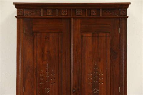 antique closet armoire victorian eastlake 1880 antique walnut armoire closet or