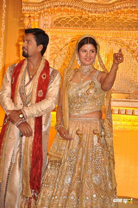 Marriage Pics by Rambha Wedding Receptiuon Photos