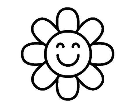 imagenes para colorear flor dibujo de flor sencilla para colorear dibujos net
