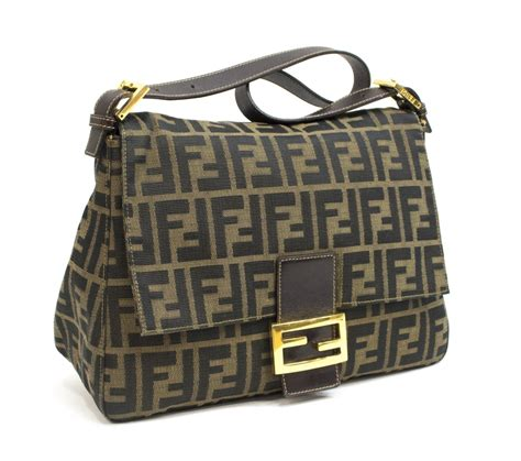 fendi woven monogram canvas flap shoulder bag exciting