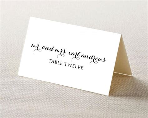 Themed Place Cards Template by Wedding Place Card Printable Template Editable Template
