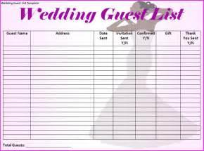 Wedding guest list template best word templates