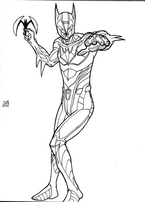 batman beyond free coloring pages
