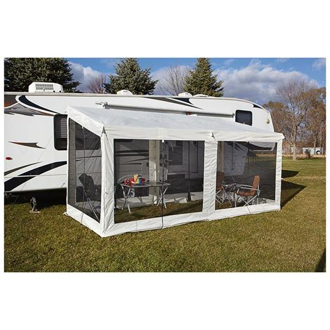 screen room cing rv awning screen sides new xl add a screen room space cing rv sun room 16 x 9