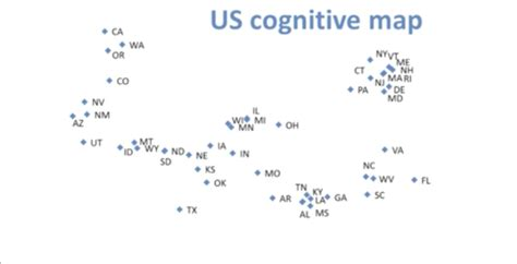 cognitive map cognitive map of the united states geoawesomeness