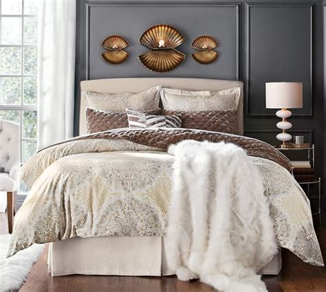 Pottery Barn Lewis Headboard lewis slipcovered headboard pottery barn