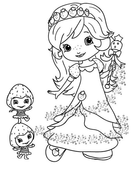 strawberry shortcake princess coloring pages coloring pages