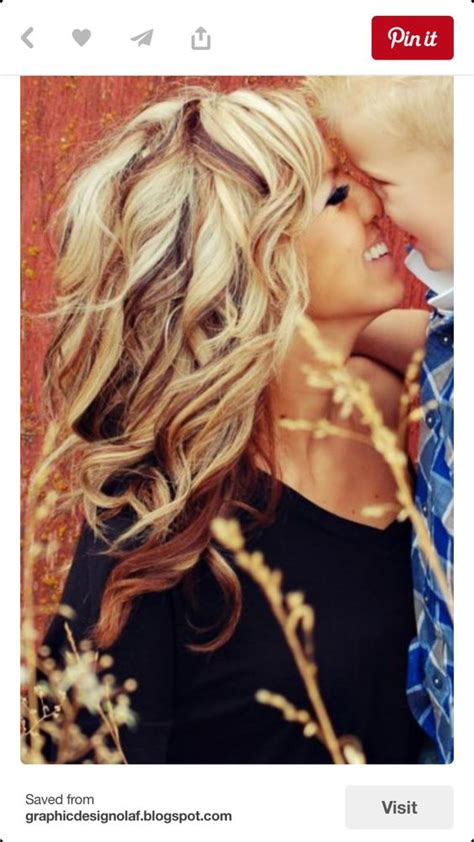 blonde hair with low blonde hair with red low light color dimension
