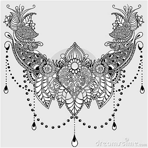 indian ornaments and design elements vector mehndy flowers tattoo template stock vector image 72307109