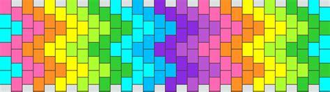 zigzag kandi cuff pattern rainbow zigzag pony bead patterns simple kandi patterns