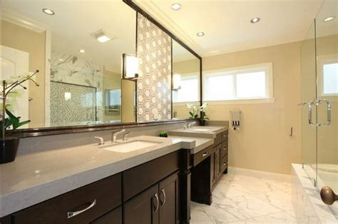 Kitchen Sink Backsplash Ideas by Quartz Makes A Splash In The Bathroom