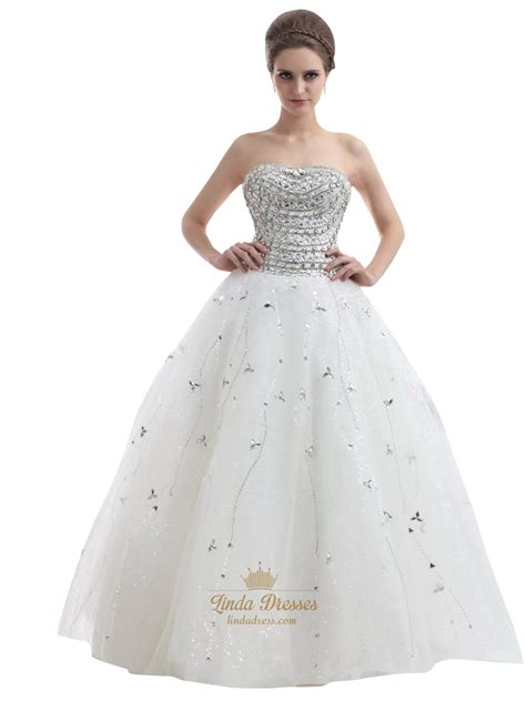 beaded ivory dress ivory strapless heavily beaded bodice tulle gown