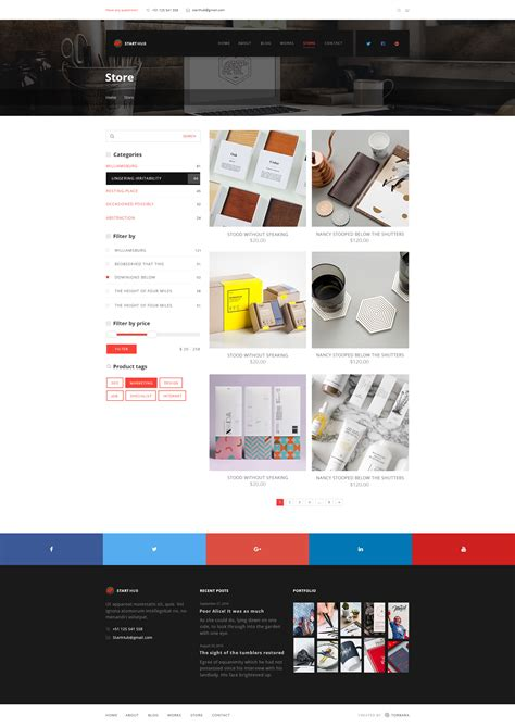 Busis Clean Multipurpose Business Corporate starthub clean multipurpose business corporate psd template by torbara