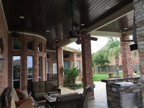 Outdoor Patio Ceiling by Houston Patio Addition With High Ceilings Luxe Finishes