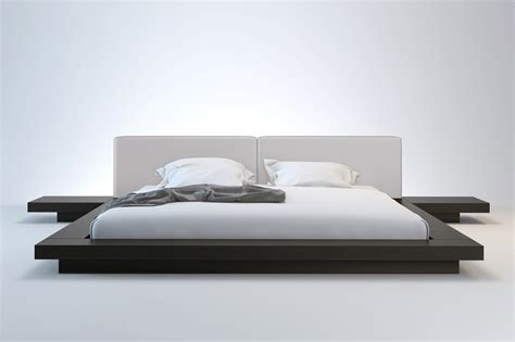 white platform bed worth king platform bed modloft hb39a k wen wht king