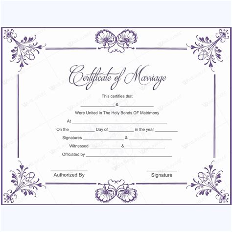 5 Plus Adorable Blank Marriage Certificate Designs For Word Free Marriage Certificate Template Microsoft Word