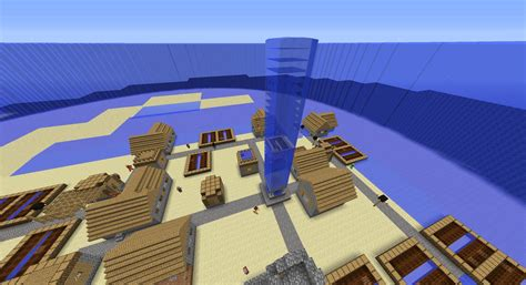 Minecraft House Designs Blueprints so i generated a flat water world with villages