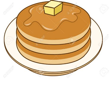 Pancake Clipart Black White