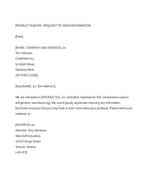 Business Letter Enquiry 52 Sle Business Letters Free Premium Templates