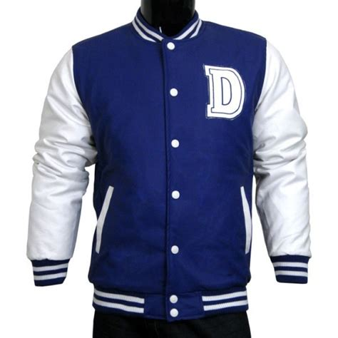 S College Letter Jackets Varsity Jacket Baseball Jacket Letterman Jacket S All Pleather Jacket Navy And White