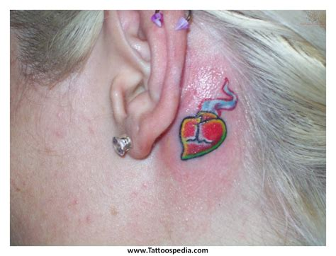 lotus flower tattoo ear flower tattoos tattoospedia
