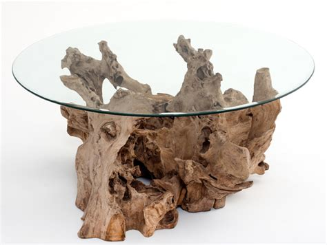 Driftwood Coffee Table, Natural Wood, Twig Base, Tree Roots