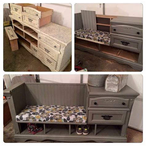 how to make a dresser into a bench 17 best ideas about dresser to bench on pinterest