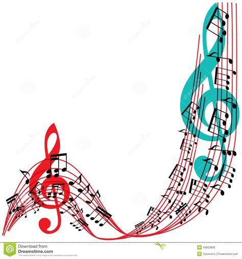 vector illustration of a stylish music notes background stylish musical theme frame stock