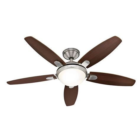 hunter 25816 contempo 52 in brushed nickel ceiling fan