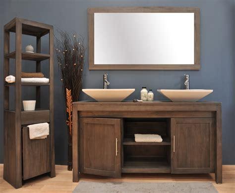 meuble salle de bain en teck pas cher peinture faience